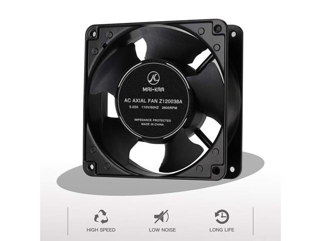 120mm Computer Cooling Fan with 110v//125v Power Plug Cord and Mounting Screw Set