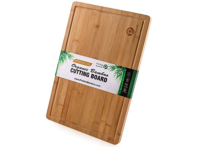 Extra Large Bamboo Cutting Board Whandles And Juice Grooves Free Non Slip Grips Wooden Chopping Board For Meat Butcher Block Vegetables Fruit