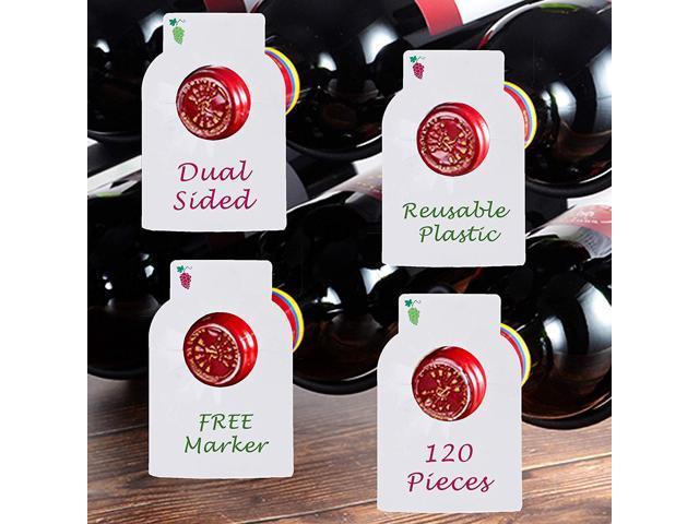 Reusable Wine Bottles Tag Racks Bottle Labels Hang Tags Cellar Storage  Glass Markers Plastic Custom Label Fit Enthusiast Erasable Wipes Dry Erase