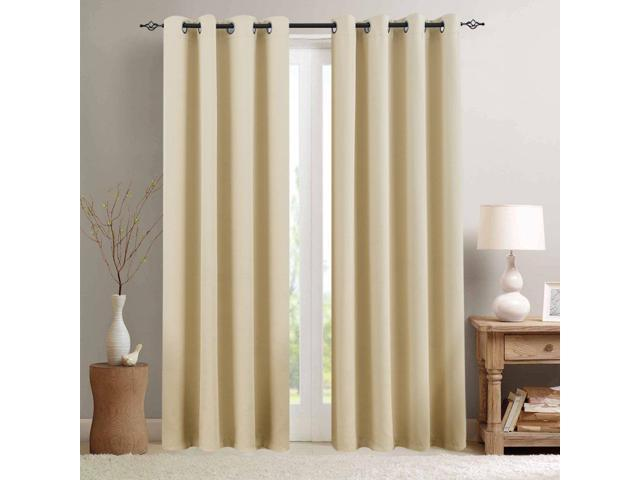 Room Darkening Window Curtains for Bedroom Triple Weave Moderate Blackout  Curtains for Living Room 95 inches Long Light Reducing Window Treatment  Set, ...