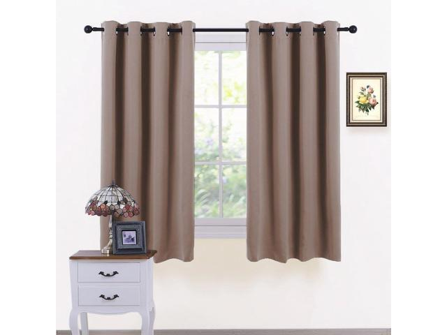 PONY DANCE Bedroom Curtains Blackout - Thermal Drapes Heavy Duty Light  Blocking Shandes Grommet Top Window Treatments Cover Noise Reducing, W 52 x  L ...