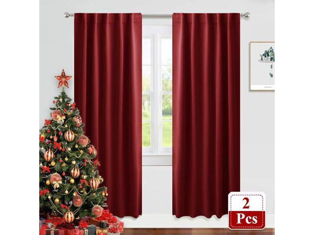 Pony Dance Decoration Window Curtains 42 X 84 Inch Red Drapes Festival Home Decor Modern Elegant Back Tab Window Covering Blackout Curtains Draperies For Living Room Bedroom One Pair Newegg Com