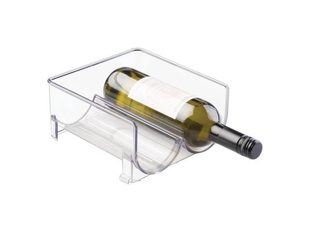 mDesign Plastic Free-Standing Wine Rack Storage Organizer for Kitchen  Countertops, Table Top, Pantry, Fridge - Holds Wine, Beer, Pop/Soda, Water