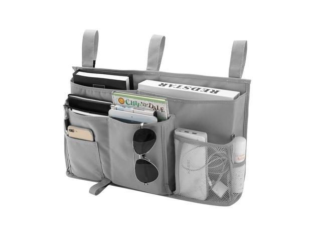 e72c07b79ebd Bseash 8 Pockets 600D Oxford Cloth Caddy Hanging Organizer Bedside Storage  Bag for Bunk and Hospital Beds,Dorm Rooms Bed Rails (Gray) - Newegg.com