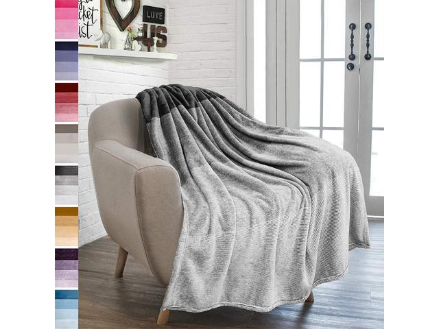 Enjoyable Pavilia Flannel Fleece Ombre Throw Blanket For Couch Super Soft Cozy Microfiber Couch Blanket Gradient Decorative Accent Throw All Season 50X60 Machost Co Dining Chair Design Ideas Machostcouk