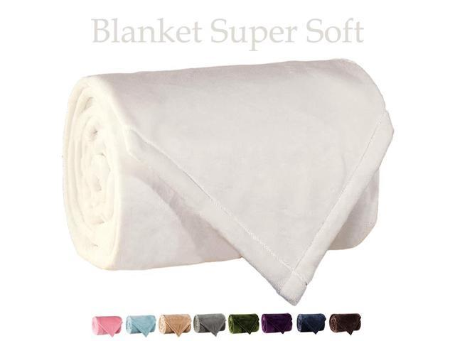 Fantastic Lbro2M Fleece Bed Blanket Super Soft Warm Fuzzy Velvet Plush Throw Lightweight Cozy Couch Blankets Queen 90 Inch By 90 Inch Ivory Newegg Com Bralicious Painted Fabric Chair Ideas Braliciousco
