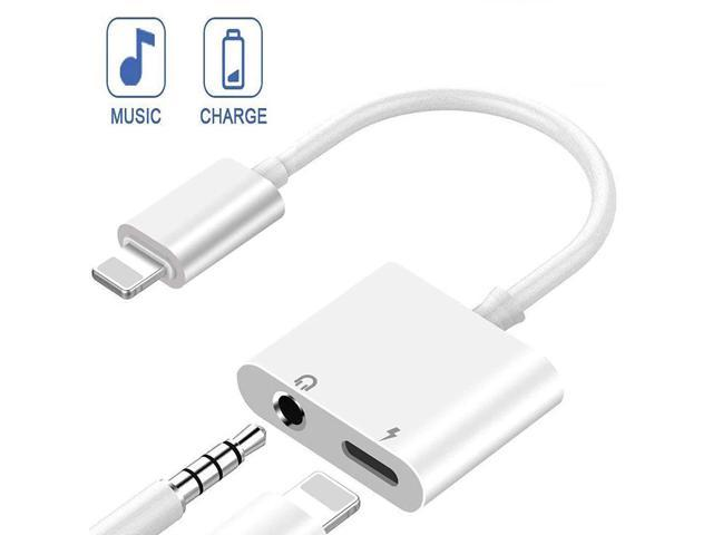 timeless design 98d02 f4260 Headphones Adapter for iPhone 8/ X/XS MAX/XR/ 8 Plus/ 7/7 Plus for iPhone  Charger 3.5mm Adaptor Jack Dongle Earphone Convertor 2 in 1 Music Charger  ...