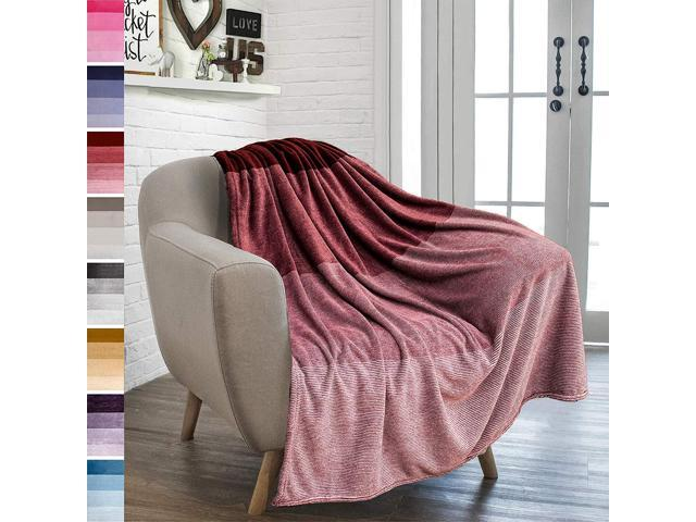 Groovy Pavilia Flannel Fleece Ombre Throw Blanket For Couch Super Soft Cozy Microfiber Couch Blanket Gradient Decorative Accent Throw All Season 50X60 Machost Co Dining Chair Design Ideas Machostcouk