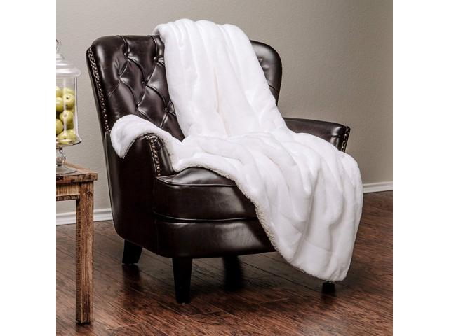 Amazing Chanasya Super Soft Faux Fur Warm Elegant Cozy With Fluffy Sherpa Solid Color Sofa Couch Bed Off Ivory Whitemicrofiber Throw Blanket 50 X 65 Bralicious Painted Fabric Chair Ideas Braliciousco