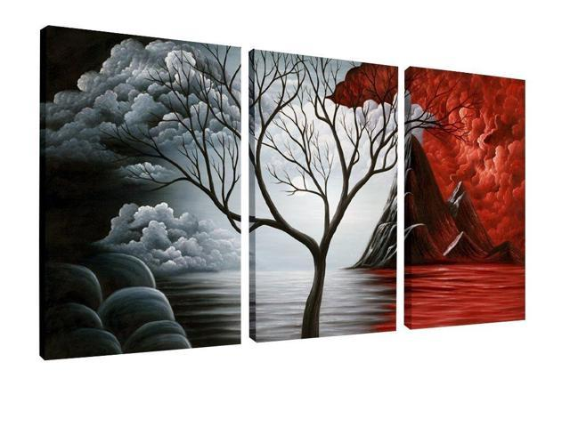Wieco Art Extra Large The Cloud Tree Modern Gallery Wrapped
