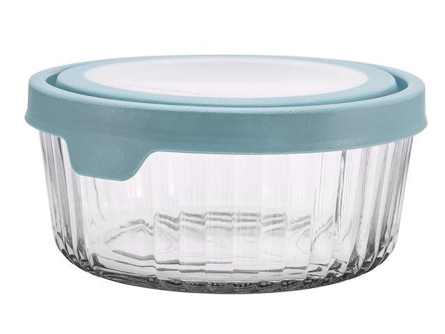 e1753187281b Anchor Hocking TrueSeal Embossed Glass Food Storage Container with Airtight  Lid, Mineral Blue, 7 Cup - Newegg.com