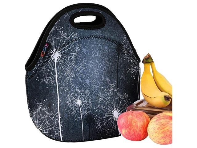 b0d9293fe6d7 iColor Pretty Dandelion Insulated Neoprene Sleeve Lunch Tote Bag Container  Portable Thermal Cooler Waterproof Picnic Protector Case Travel Outdoor ...