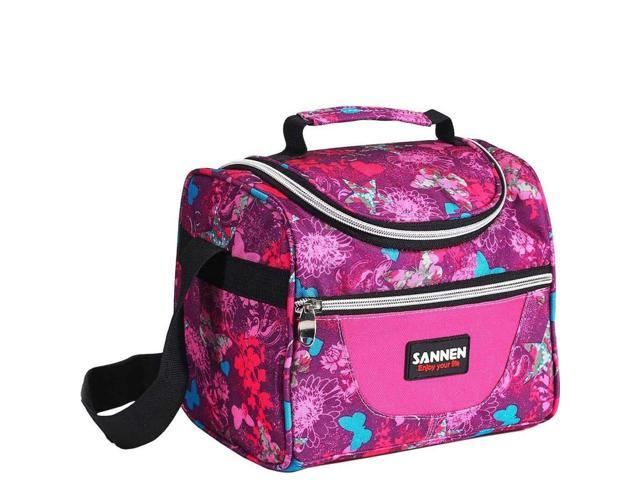 Kids Lunch Bag Insulated Lunch Box for Girls Children Student Women  Reusable Cooler Tote Bento Bags With Adjustable Shoulder Strap and Front  Pocket