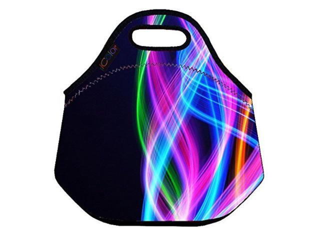 056dc5010dc2 ICOLOR Colorful fancy Insulated Neoprene Lunch Bag Tote Handbag lunchbox  Food Container Gourmet Tote Cooler warm Pouch For School work Office - ...
