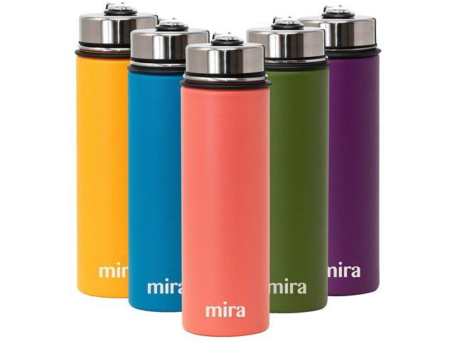 2e67037b3aa6 MIRA 22 Oz Stainless Steel Vacuum Insulated Wide Mouth Water Bottle with 2  Caps | Thermos Keeps Cold for 24 hours, Hot for 12 hours | Double Walled ...