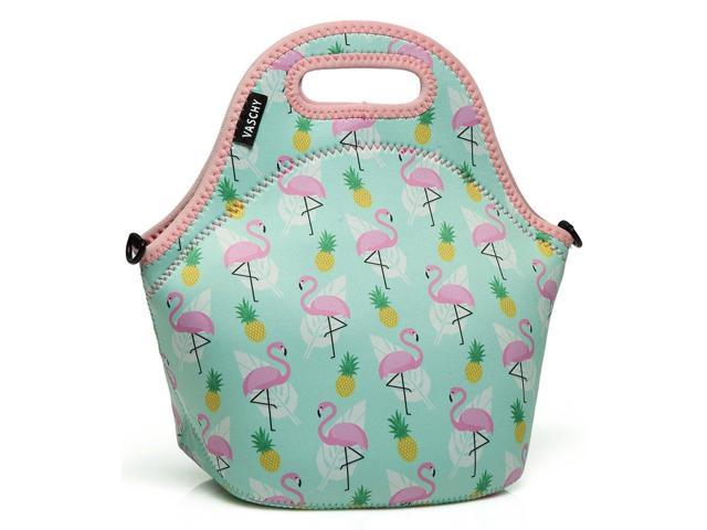 a3b3f766eb70 VASCHY Lunch Box Bag for Girls, Neoprene Insulated Lunch Tote with  Detachable Adjustable Shoulder Strap in Cute Flamingos - Newegg.com