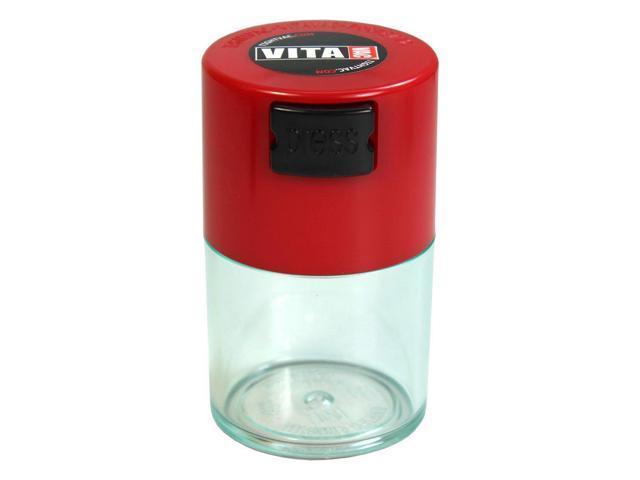 TV0-CRD Vitavac - 5g to 20 gram Vacuum Sealed Container Red Cap & Clear  Body - Newegg com