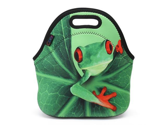 a3a1e252fc03 ICOLOR Thermal Neoprene Waterproof Kids Insulated Lunch Portable Carry Tote  Picnic Storage Bag Lunch box Food Bag Gourmet Handbag Cooler warm Pouch ...