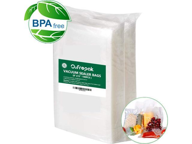 100 Food $ Saver Bag 8x12 Quart Vacuum Sealer Pouch SousVide VacUpack FREE SHIP