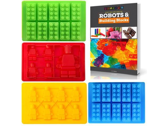 Best Candy Molds & Ice Cube Mold for Lego Lovers with Bonus Recipe eBook by  Americas Best Buys (4-Pack) - Newegg com
