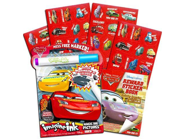 Disney Cars Imagine Ink Coloring Book Set for Toddlers Kids -- Mess-Free  Coloring Book with Magic Invisible Ink Pen and Over 100 Disney Cars  Stickers ...