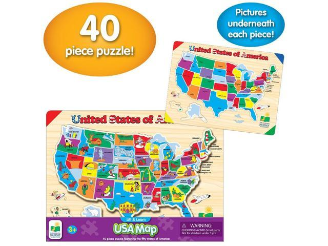 The Learning Journey Lift & Learn USA Map Puzzle - Newegg.com