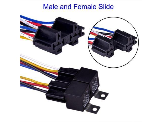 Auto Relay U1914 With 14AWG Wire Harness 12V DC 30/40A SPDT ... on 12 vdc relay, hella 12 volt relay, normally closed relay, hella 5 pin relay, yl 388 s relay, dual 87 relay, 24 v relay, 12 volt solid state relay, 4 pin automotive relay, power relay, 4 pin 30 amp relay, 24vac relay, dual output relay, 5 pin automotive relay, 12 volt automotive relay, light switch relay, single pole double throw relay, programmable relay, bosch relay, 25530904 hella brand relay,