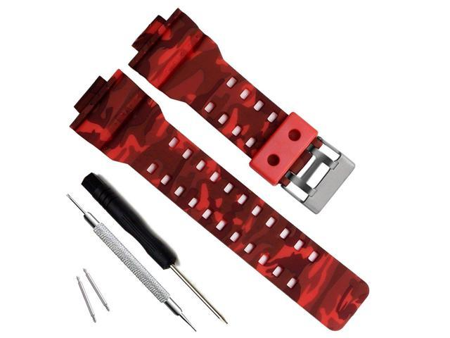 Olibopo Natural Resin Replacement Watch Band Strap For Casio Mens G Shock Gd120 Ga 100 Ga 110 Ga 100c Newegg Com