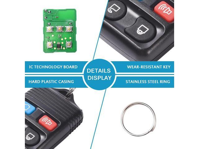 Key Fob Keyless Entry Remote fits Ford, Lincoln, Mercury, Mazda Mustang Explorer Escape Focus Fusion Taurus, Set of 2
