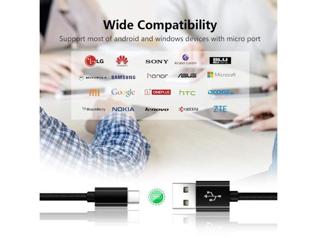 Charger Power Cord for LG G8 G7 V40 V35 Thinq,V30S V30 LS998 VS996 V20  VS995,LGG8 LGG7,Oneplus 6T 6 5T 7 Pro,Nokia 3 1 Plus/3 1-A/3 1-C Fast  Charging