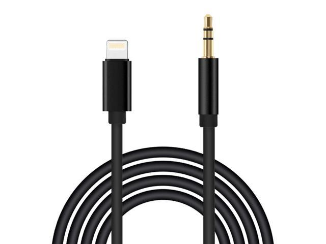 best cheap 98d21 ae470 iPhone 7 Car Aux Cable Lightning to 3.5mm Male Aux Audio Cable, KOROMU  3.3ft/1M Lightning to Male 3.5mm Auxiliary Audio Stereo Cord for iPhone 7/7  ...
