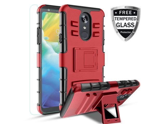 LG Stylo 4 Case, Stylo 4 Plus Case Kickstand Heavy Duty TPU+PC Dual Layer  Cover Shell PC(Red) - Newegg com