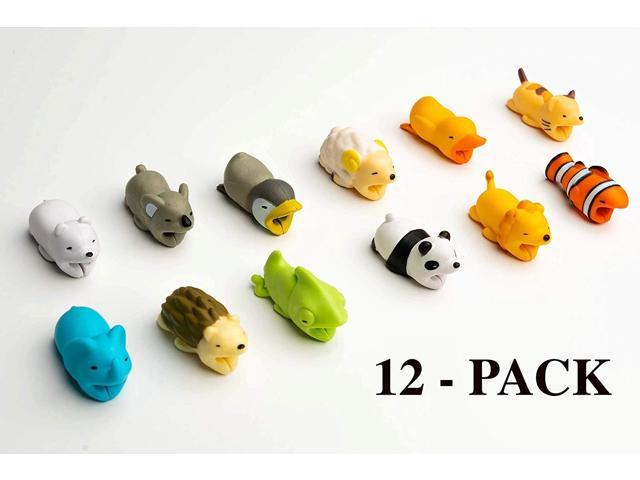 Animal Cable Charger Protector 12-Pack Accessory Bites, Cute Pet Charging  Cable Saver for iPhone & Samsung USB Cord, Gift - Newegg com