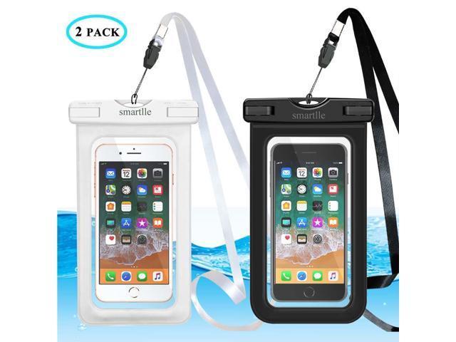 los angeles 01b2c 985b0 Universal Waterproof Phone Case, Large Waterproof Phone Pouch Dry Bag for  apple iPhone X, 8, 7, 6 Plus, SE, Samsung S9+ S8 S8+, 6.5