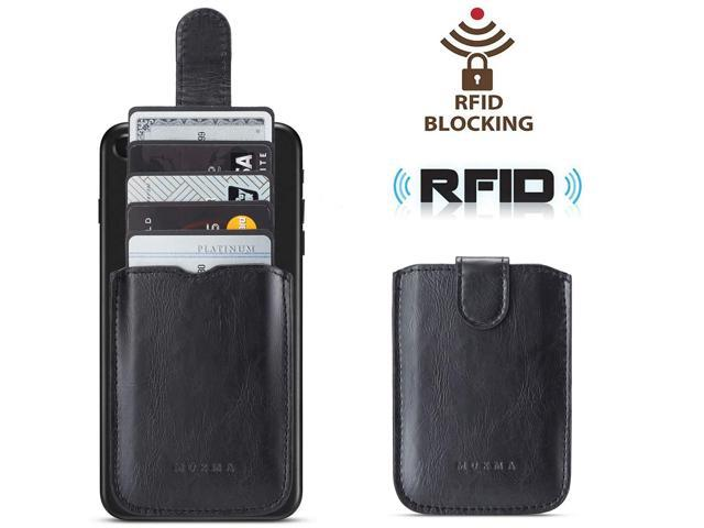 wholesale dealer f198d 24164 Phone Card Holder RFID Blocking, Pu Leather Back Phone Wallet Stick-OnPull  up 5 Card Holder Universally Pocket Covers Credit Cards Cash for iPhone XS  ...