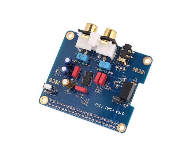 ASHATA I2S Interface PiFi DIGI DAC + HiFi DIGI Digital Audio Card for  Raspberry PI 3 Model B / 2B / B,Gold-Plated RCV Double Clamp and  Gold-Plated 3 5