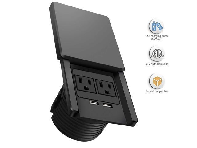 Desk Power Grommet Outlet, Max 4 AMP USB Port, Recessed ...