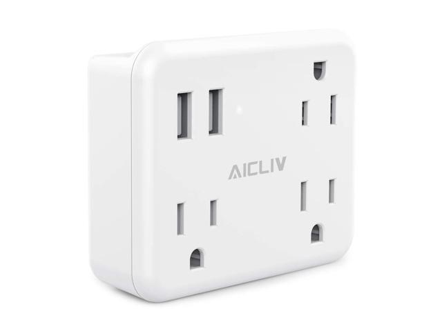 Cruise Power Strip No Surge Protector, Aicliv 3 Outlet Extender with 2 USB  Wall Charger, Wide Spaced Multi Plug Outlets, Portable Travel Size Cruise