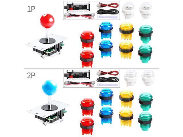 Hikig 2-Player LED DIY Arcade Kit for PC, MAME, Raspberry Pi 2X Zero Delay  USB Encoder + 2X Arcade Joystick + 20x LED Arcade Buttons - Mixed Xbox 360