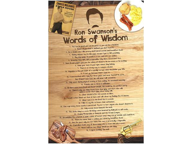 image relating to Ron Swanson Pyramid of Greatness Printable Version titled mCasting Parks and Activity Poster - Ron Swanson Pyramid of Greatness Poster- Interesting Television Props Ron Swanson Poster (Phrases of Knowledge, 1) -