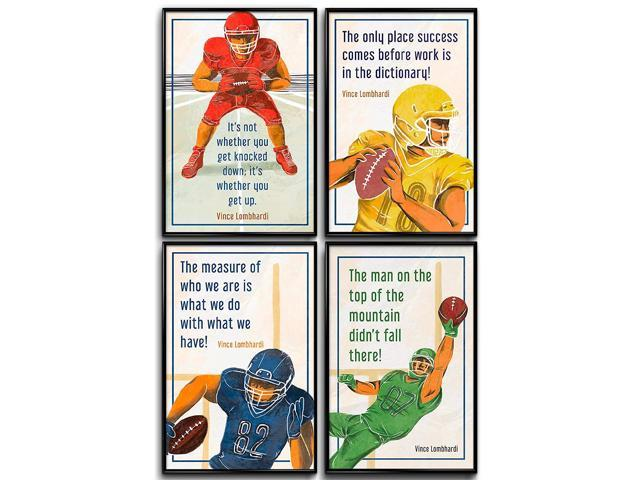 d250cbd9e809f American Football Wall Art, Sports Decorations, Inspirational Posters,  Motivational Wall Art Prints, Football Wall Decor, Boys Bedroom Decor, NFL,  ...