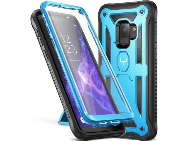 hot sale online 23d62 26a1f Galaxy S9 Case, YOUMAKER Heavy Duty Protection Kickstand with Built-in  Screen Protector Shockproof Case Cover for Samsung Galaxy S9 5.8 inch (2018  ...
