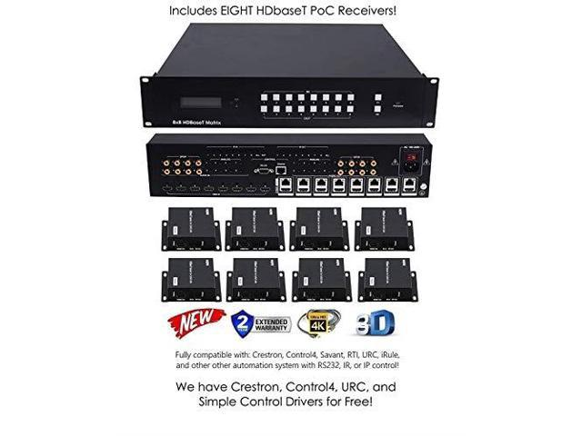 4K HDbaseT Extender Kit HDR 18GBPS HDMI Over Single CAT5e