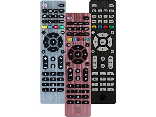 GE Universal Remote Control for Samsung Vizio LG Sony Sharp Roku Apple TV  RCA Panasonic Smart TVs Streaming Players Bluray DVD Simple Setup 4Device