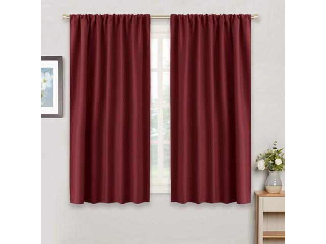 Ryb Home Blackout Curtain Panels Thermal Insulated Wide 42