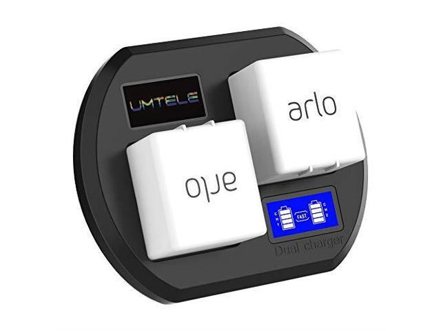 UMTELE Charging Station for Arlo Rechargable Batteries Dual Fast Charging  Station with USB Cable for Arlo Security Light amp Arlo Go amp Arlo Pro 2