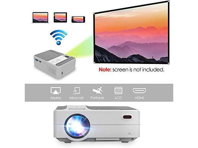 2019 New Mini Portable Home Theater Projector 3200 Lumen 1280720 HD  Multimedia Video Projectors for Gaming Movie Blu Ray DVD Laptop PC  Smarphone with