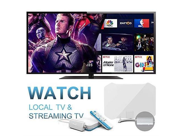 AirTV Player with DualTuner Adapater and ANTOP OutdoorIndoor HDTV Antenna  4K Sling TV Integrated Media Streamer and live local channels with NO