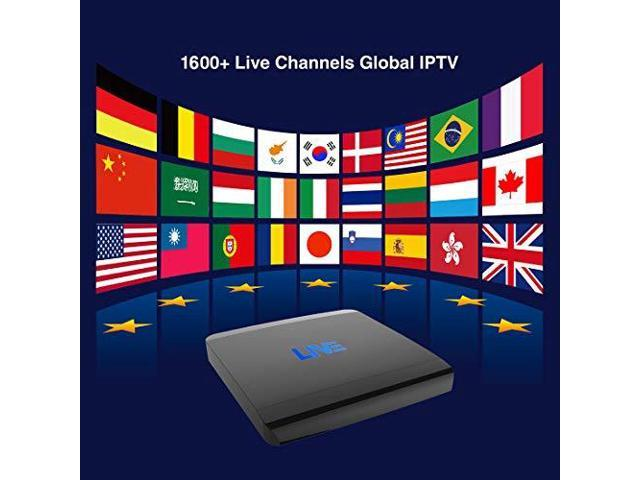 MACOBOX IPTV 2GB RAM 16GB ROM Global Receiver 1600+ International Channels  from US India Portugal Korea Arabic - Newegg com