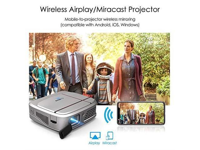 2019 Portable Wireless Bluetooth LCD Projectors 3300 Lux Mini Smart TV  Projector Home Theater with HDMI USB Aux Audio VGA AV Android OS Support  720P